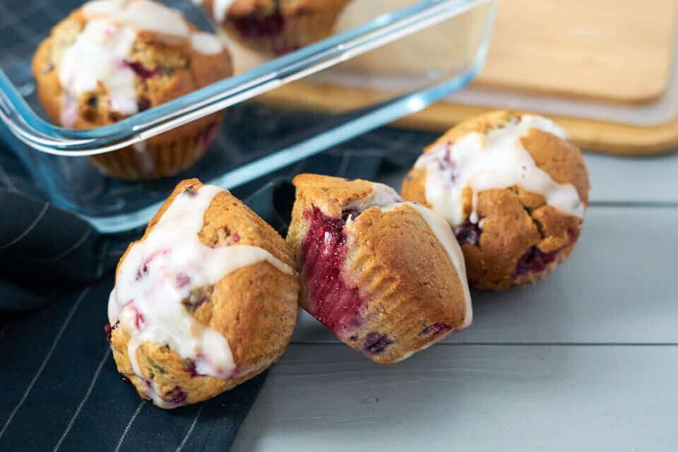 Bananen-Beeren-Muffins