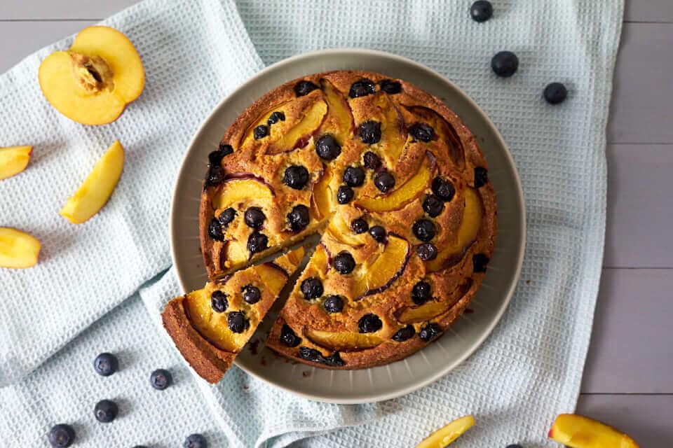 Blaubeer-Nektarinen-Kuchen