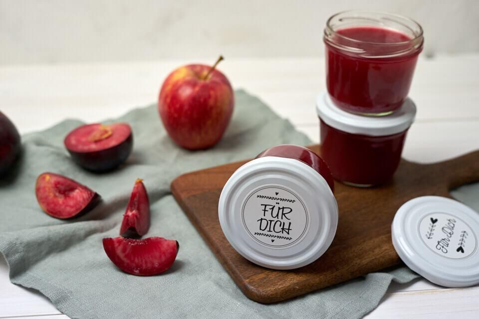 Herbstliche Apfel-Pflaumen-Marmelade
