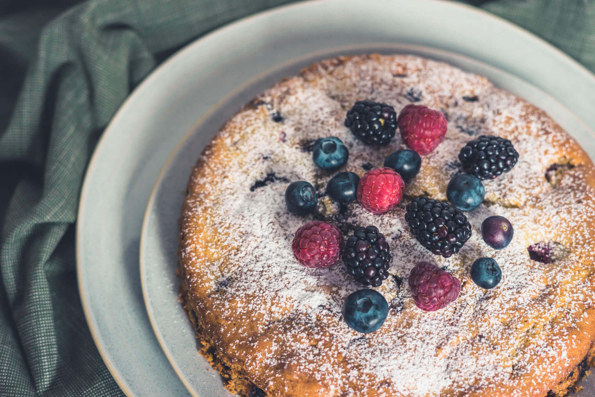 Buttermilch-Beeren-Kuchen