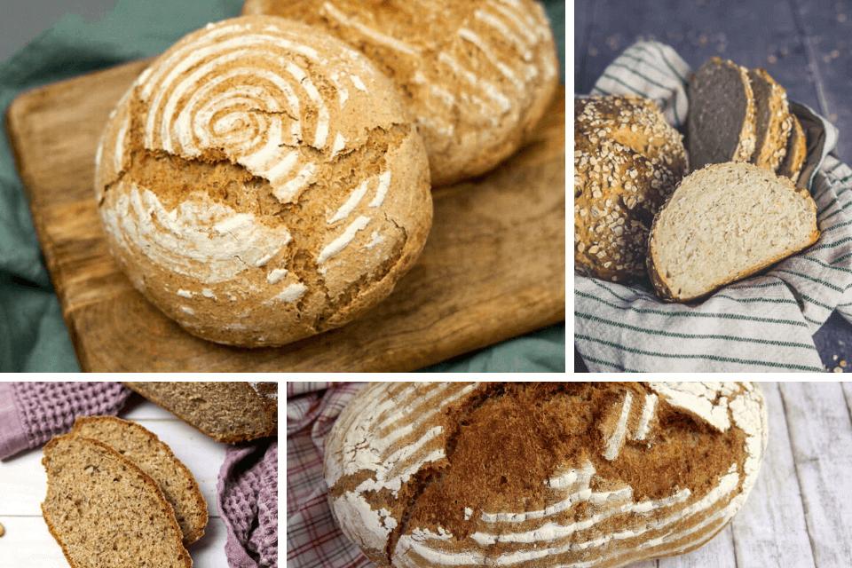 4 x selbst gebackenes Brot