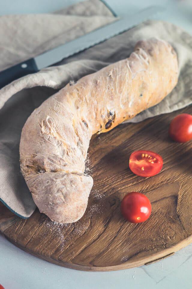 Schnelles Tomaten-Ciabatta