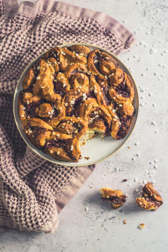 Himbeer-Mandel-Zupfbrot