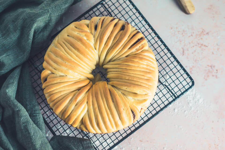 Wollknäuel Brot mit Nutella