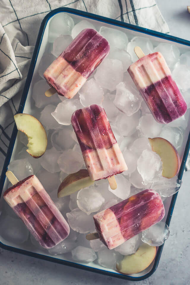 Pfirsich Iced Tea Popsicles