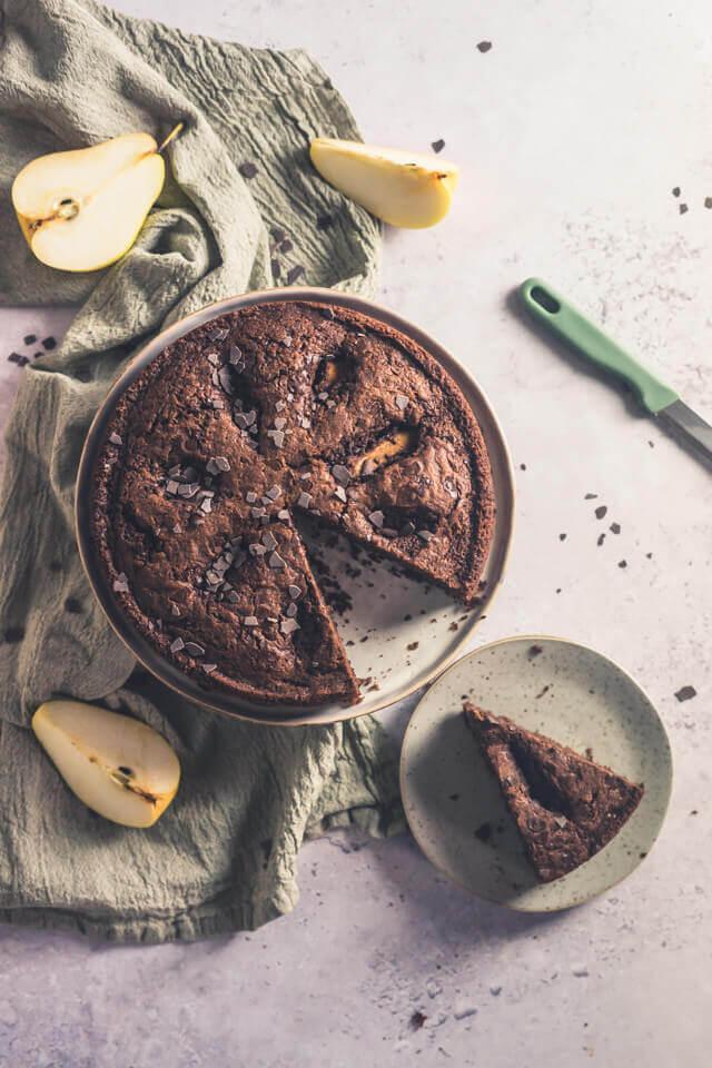 Rotwein-Birnen-Kuchen